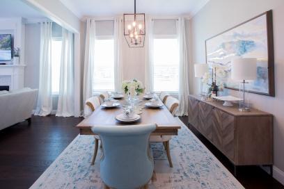 Transitional-Coastal Dining Room